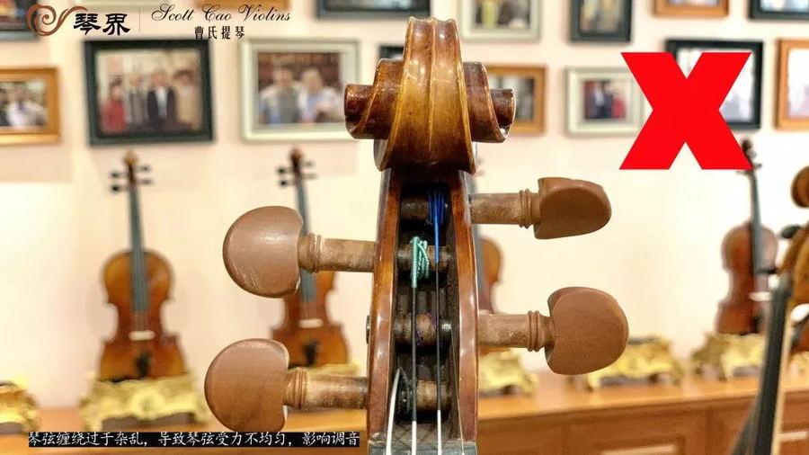 琴弦缠绕过于杂乱,导致琴弦受力不均匀,影响调音
