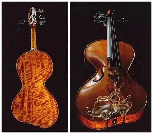 制琴名家 Gauthier Louppe设计的不对称小提琴Résurgence