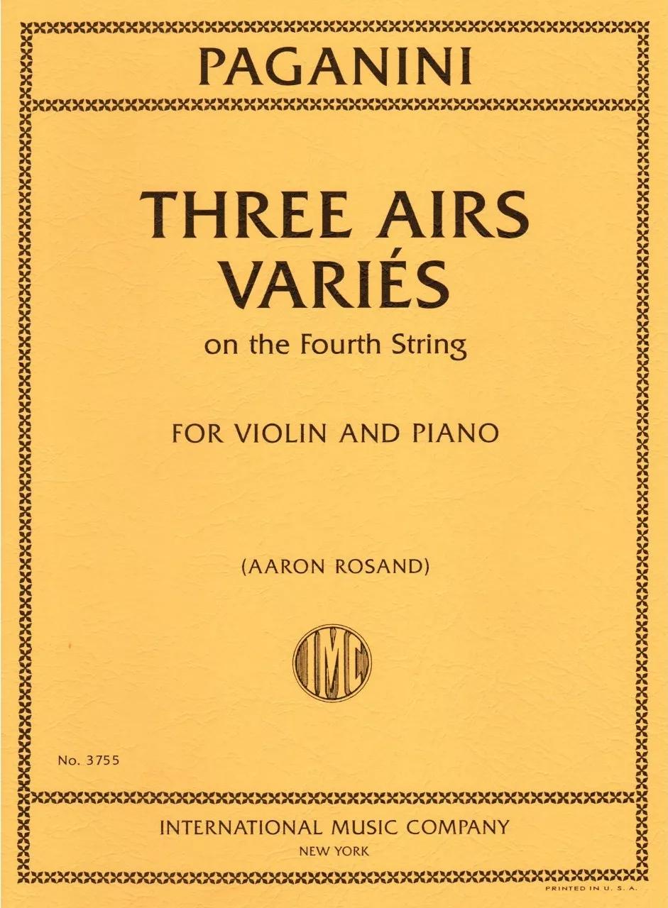 亚伦・罗桑修订的《三首咏叹调变奏曲》