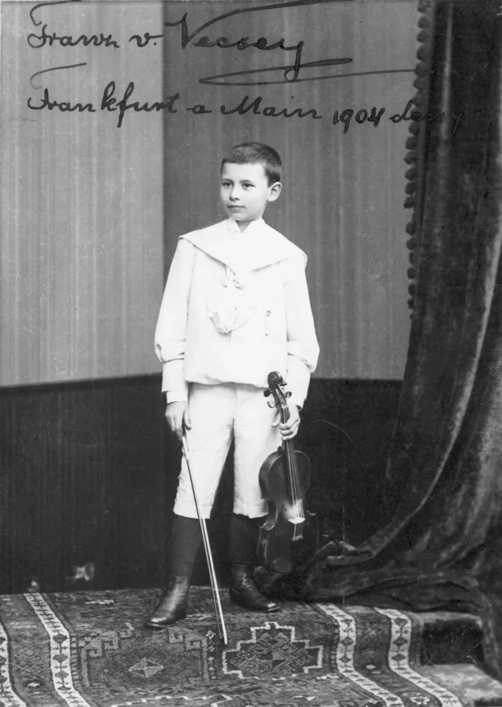 后来他将此曲题献给了Franz von Vecsey