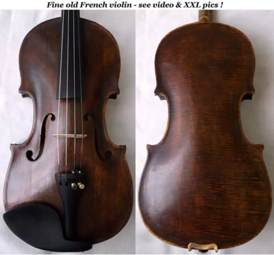 Fine old French violin-see video & XXL pics